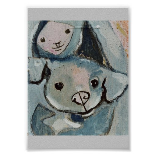 Girl With Dog Muted Series 22 Poster