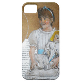 girl with doll backward case for the iPhone 5