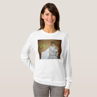 girl with doll backward T-Shirt