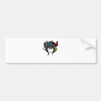 girl with flowers in hair bumper stickers
