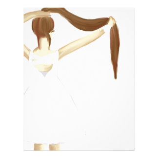 Girl with hair letterhead