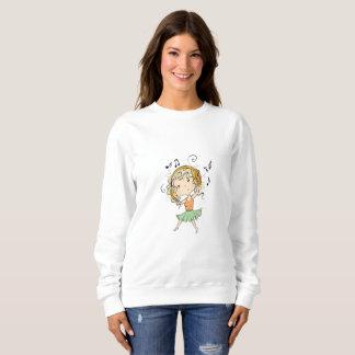 Girl With Headphones Sweatshirt