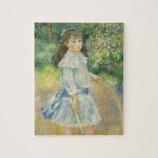 Girl with Hoop by Pierre Renoir, Vintage Fine Art Jigsaw Puzzle