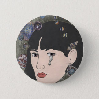 Girl With Kaleidoscope Eyes 2 Inch Round Button