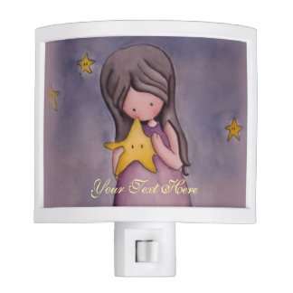 Girl with Kawaii Star Night Light