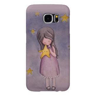 Girl with Kawaii Stars Samsung Galaxy S6 Case