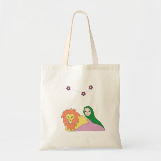 Girl with Lion Tote