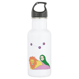 Girl with Lion Water Bottle