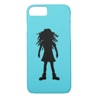 Girl with long curly hair Case-Mate iPhone case