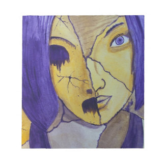 Girl with Many Faces Notepads