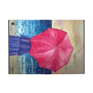 Girl With Pink Umbrella at the Beach painting Case For iPad Mini