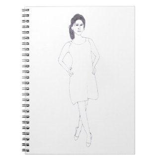Girl with Plain Dress notebook