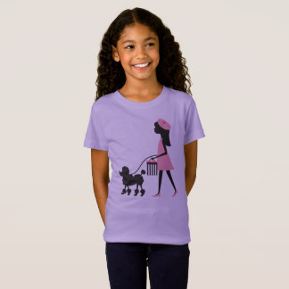 Girl with Poodle T-Shirt