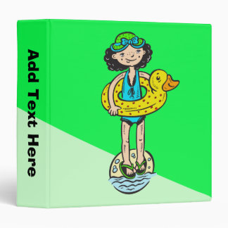 Girl with Pool Toy Vinyl Binder