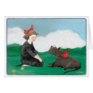 Girl with Scottie Card