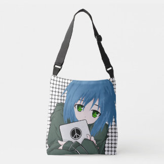 Girl with Tablet Crossbody Bag