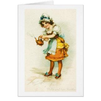 Girl with Tea Kettle, Card