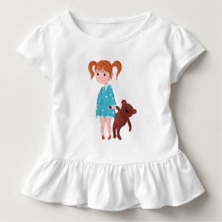Girl with Teddy bear Toddler T-shirt