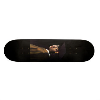 Girl with the Graduation Hat (Pearl Earring) Skate Board