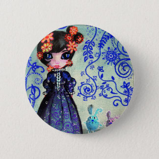 girl with the lapinous 2 inch round button