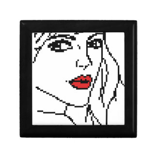 Girl with the red lips gift box