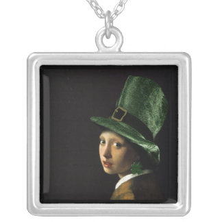 Girl With The Shamrock Earring - St Patrick's Day Pendant