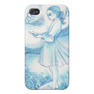 Girl with the Winged Boat iPhone 4 Cases