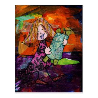 Girl with Torah Postcard