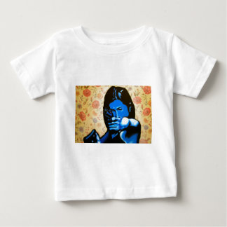 """Girl with Two Guns"" by Axel Bottenberg Baby T-Shirt"