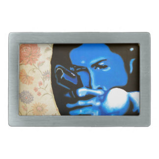 """Girl with Two Guns"" by Axel Bottenberg Belt Buckle"