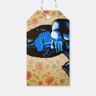 """Girl with Two Guns"" by Axel Bottenberg Gift Tags"