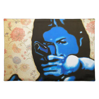"""""""Girl with Two Guns"""" by Axel Bottenberg Placemat"""