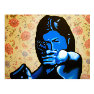 """Girl with Two Guns"" by Axel Bottenberg Postcard"