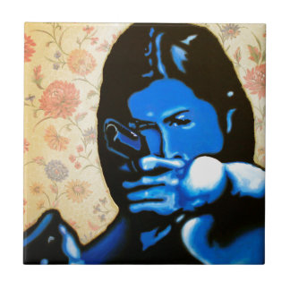 """""""Girl with Two Guns"""" by Axel Bottenberg Tile"""