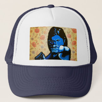"""Girl with Two Guns"" by Axel Bottenberg Trucker Hat"