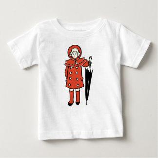 Girl With Umbrella Baby T-Shirt