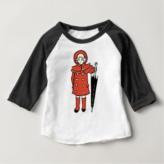 Girl With Umbrella Baby T-Shirt