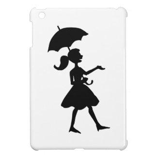 GIRL WITH UMBRELLA iPad MINI COVERS