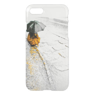 Girl with Umbrella Rainy Day iPhone matte cover. iPhone 8/7 Case