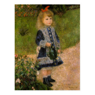 Girl with Watering Can Postcard
