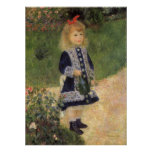 Girl with Watering Can, Renoir, Impressionism Art Poster