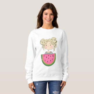 Girl With Watermelon Sweatshirt