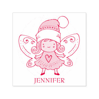 Girl With Wings Self-inking Stamp