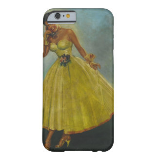 Girl with yellow dress Pin Up Art Barely There iPhone 6 Case