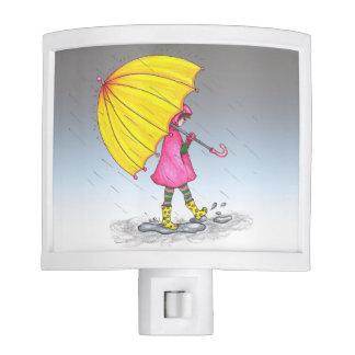 Girl with Yellow Umbrella Night Lites