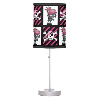 Girl Zombies & Pirates Table Lamp