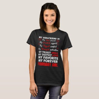 Girlfriend Best Friend February Girl Tshirt