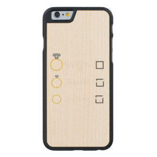 Girlfriend Fiancee Wife hen Party Zno5a Carved Maple iPhone 6 Case