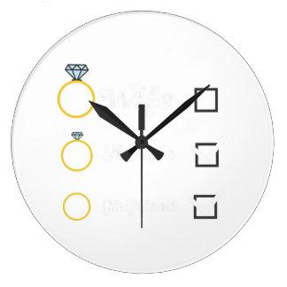 Girlfriend Fiancee Wife hen Party Zno5a Wall Clocks