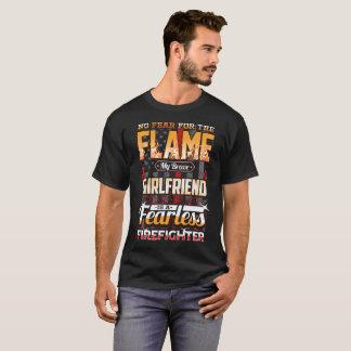Girlfriend Firefighter American Flag T-Shirt